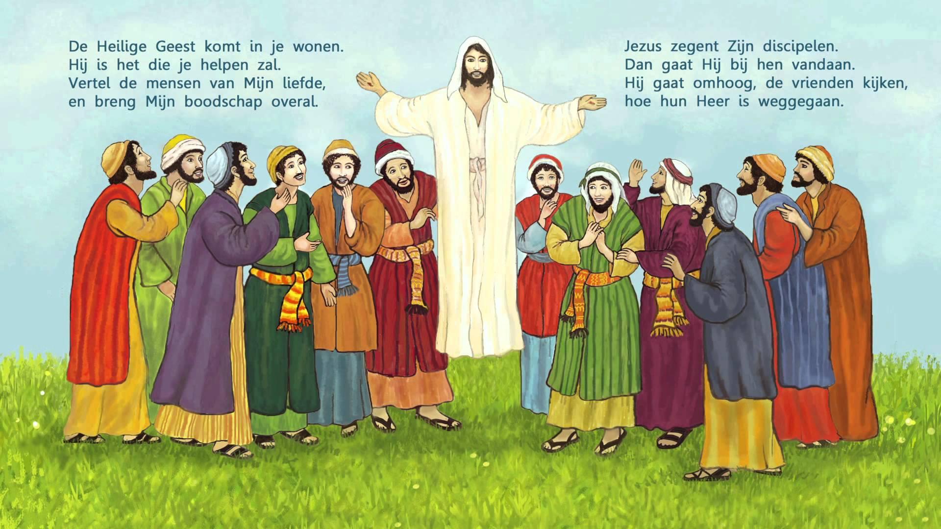 Jezus gaat naar de hemel 4